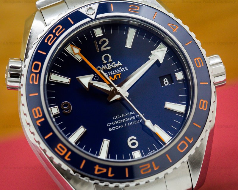 Omega 232.30.44.22.03.001 Seamaster Planet Ocean Good Planet GMT 600M Co-Axial Blue Dial UNWORN