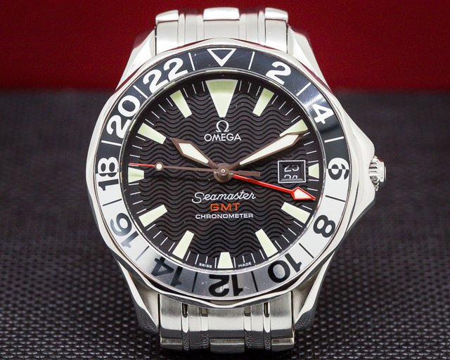 Omega 2234.50.00 Seamaster GMT SS/SS Black Dial 41MM