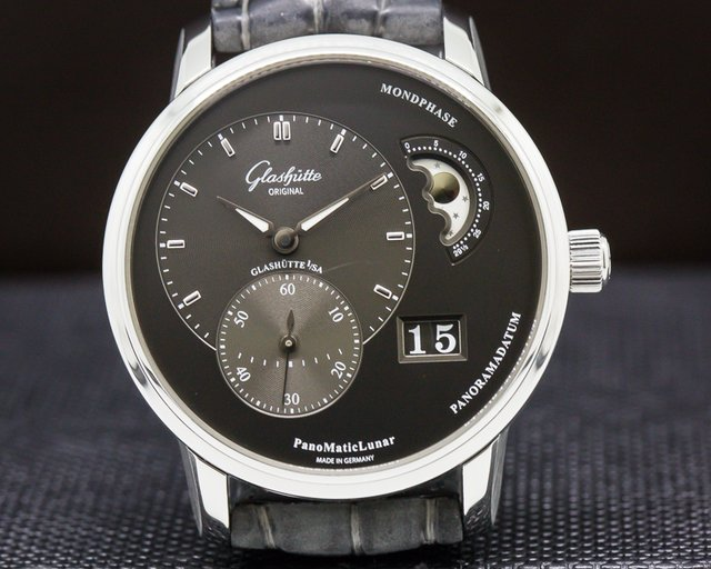Glashutte Original 90-02-43-32-05 PanoMatic Lunar SS Grey Dial