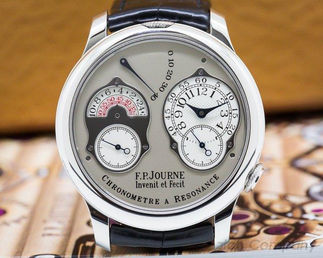 F. P. Journe  Chronometre Resonance Platinum / Silver Dial 40MM Deployant