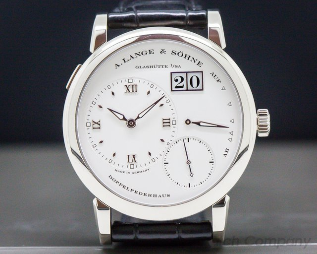 A. Lange and Sohne 101.039 Lange 1 18K White Gold Silver Dial