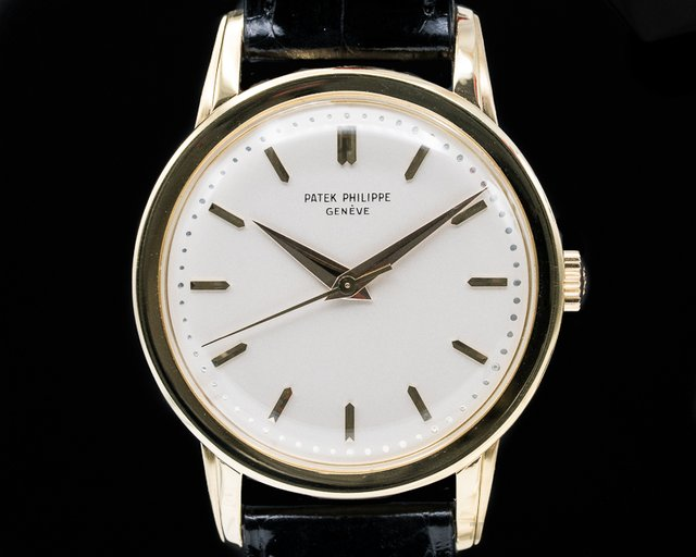 Patek Philippe 2481J Calatrava 2481 Manual Center Seconds Fancy Lugs 18K Yellow Gold