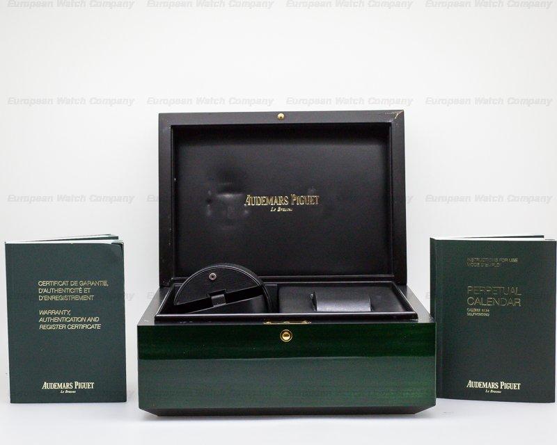 Audemars Piguet 26574OR.OO.1220OR.02 Royal Oak Perpetual Calendar 18k Rose Gold BLUE DIAL