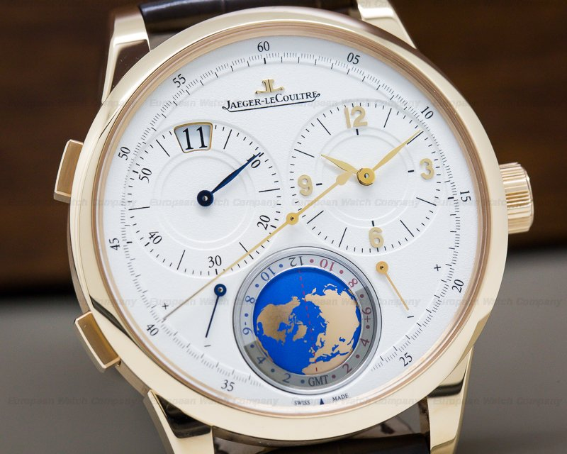 Jaeger LeCoultre 6062520 Duometre Travel Time 18K Rose Gold UNWORN