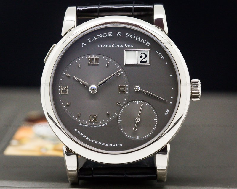 A. Lange and Sohne 101.030 Lange 1 Grey Slate Dial White Gold