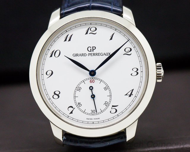 Girard Perregaux 49534-53-711-BK6A  1966 Automatic Small Seconds 40MM 18K White Gold