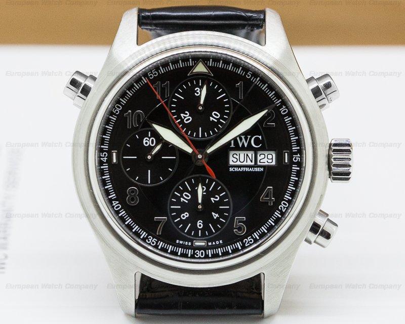 IWC IW371338 Doppel Spitfire Black Dial SS