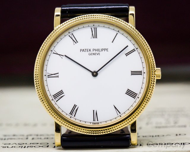 Patek Philippe 3520 Calatrava 18K Yellow Gold Manual Wind Silver Roman Dial