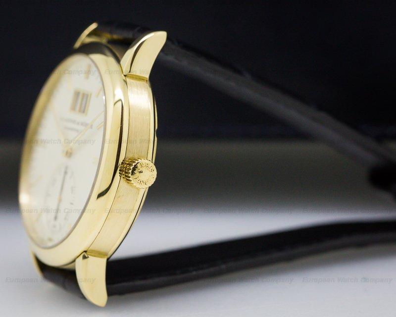 A. Lange and Sohne 308.021 Langematik Big Date 18K Yellow Gold / Deployant Buckle
