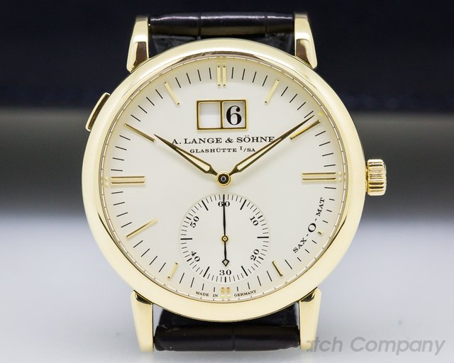 A. Lange and Sohne 308.021 Langematik Big Date 18K Yellow Gold / Deployant Buckle