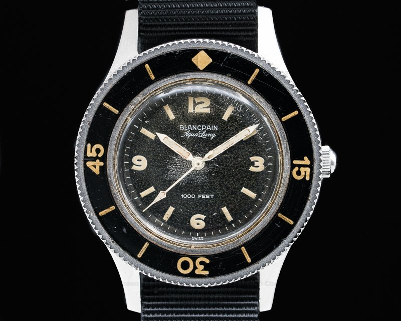 "Blancpain Vintage Fifty Fathoms Aqualung 1000FT ""Jacques Cousteau"" 41MM"
