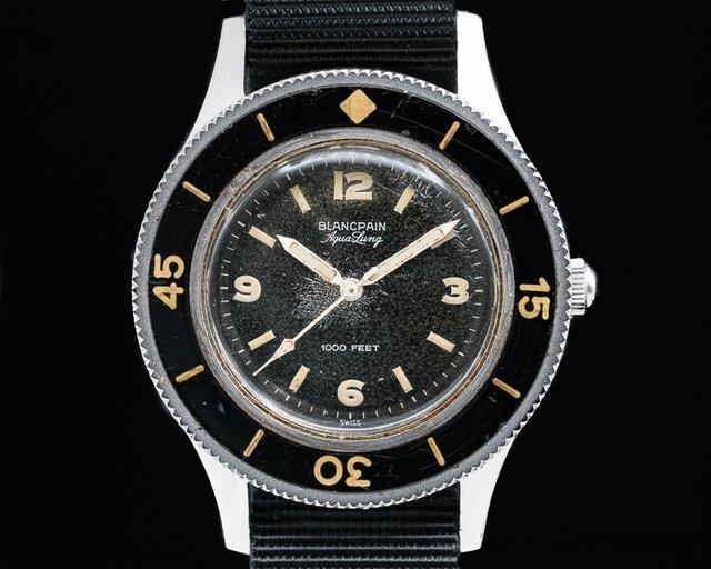 "Blancpain  Vintage Fifty Fathoms Aqualung 1000FT ""Jacques Cousteau"" 41MM"
