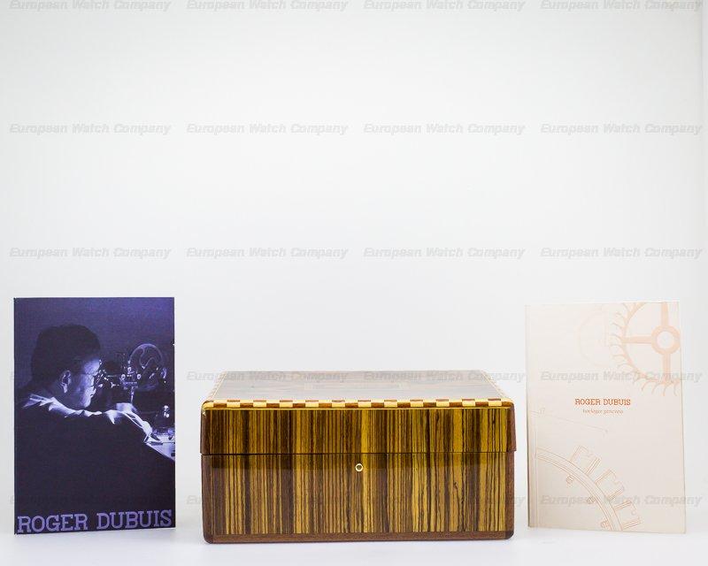 Roger Dubuis H40 5630 5 Hommage Bi-Retrograde Chronograph Silver Dial 18K Rose Gold