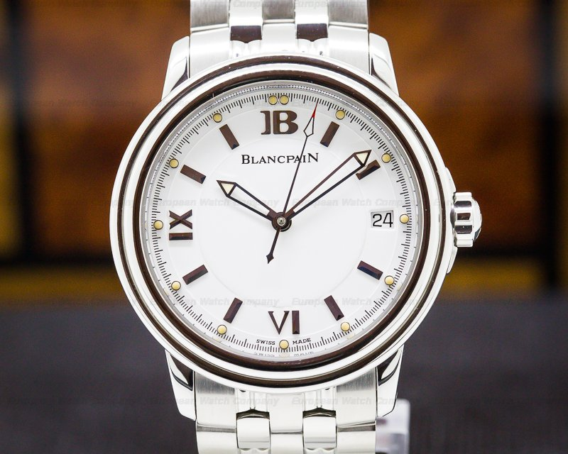 Blancpain 2100-1127-11 Leman 2100 White Dial SS 38MM