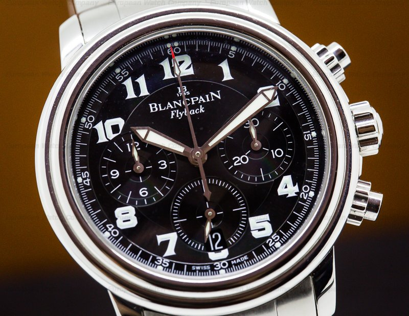Blancpain 2185F-1130-63B Leman Flyback Chronograph Black Dial SS/SS