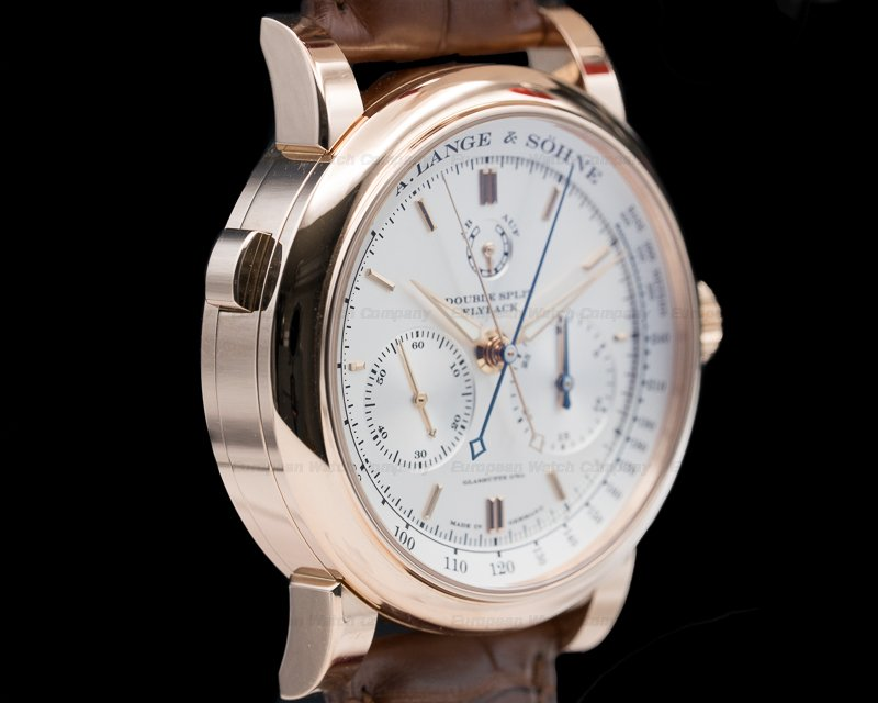 A. Lange and Sohne 404.032 Double Split Silver Dial Rose Gold