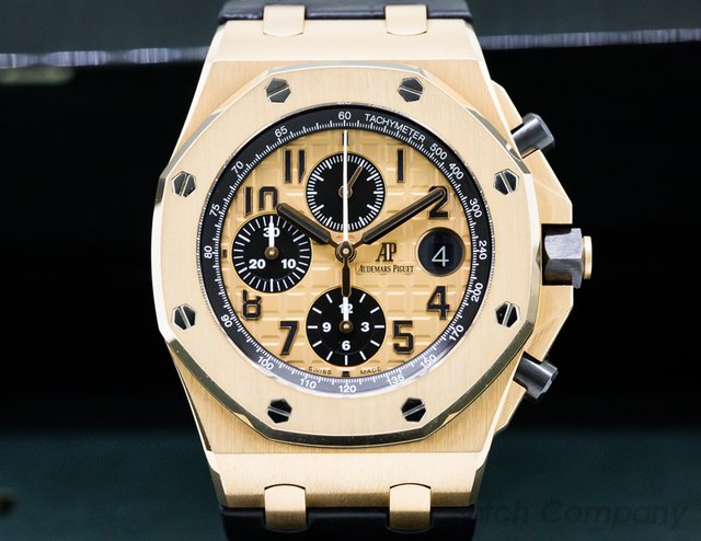 Audemars Piguet 26470OR.OO.A002CR.01 Royal Oak Offshore 18k Rose Gold / Alligator