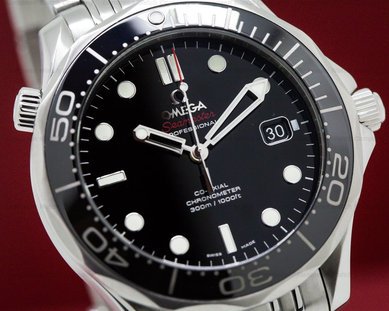Omega 212.30.41.20.01.002 Seamaster Professional Black Dial Co-Axial SS / SS