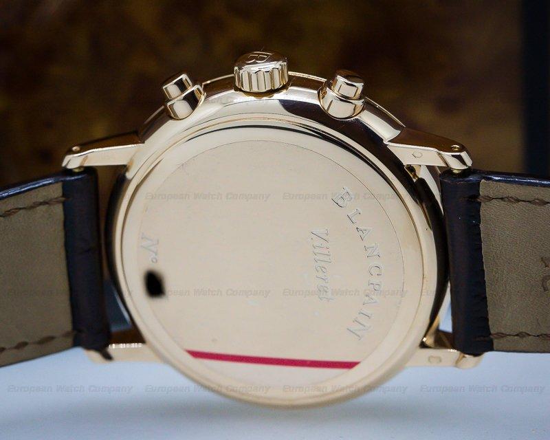 Blancpain 4082-3642-55B Villeret Chronograph 18K Rose Gold