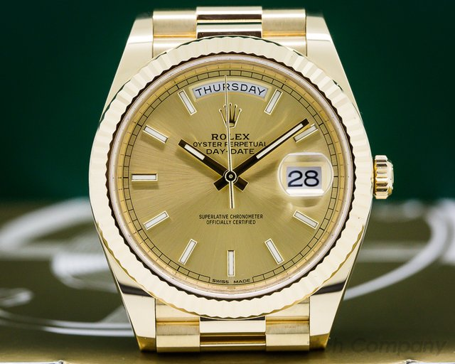 Rolex 228238 Day Date Presidential 40mm Yellow Gold