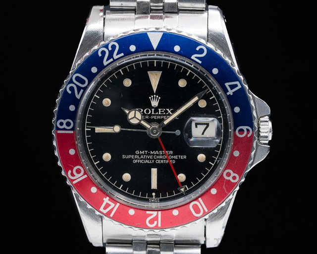 Rolex 1675 GMT Master Gilt Chapter Ring Exclamation GLOSSY + CLEAN