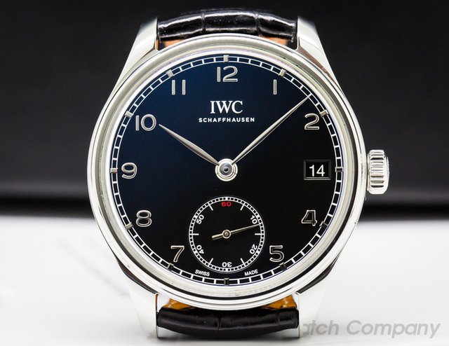 IWC IW510202 Portuguese Hand Wound Eight Days SS / Black Dial