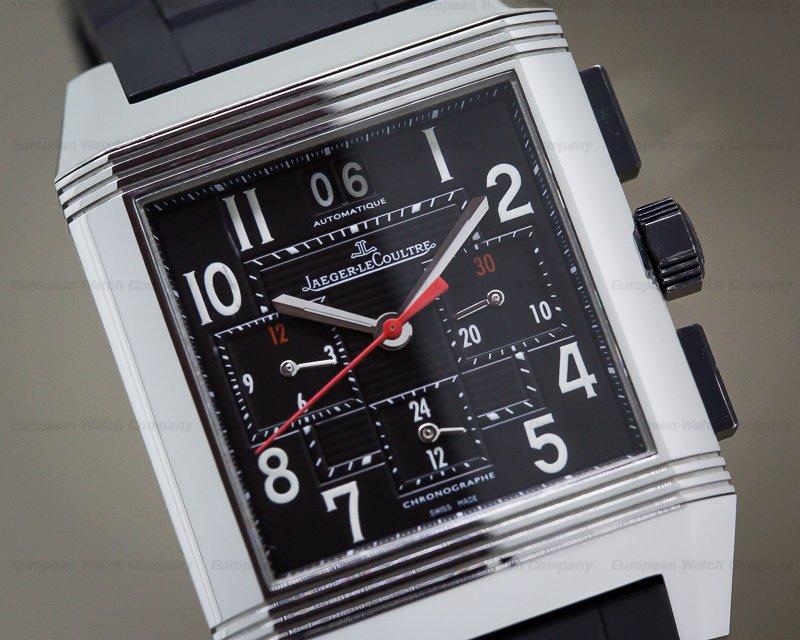 Jaeger LeCoultre Q7018420 Reverso Squadra Chronograph GMT SS / Rubber Bracelet