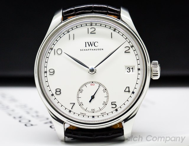 IWC IW510203 Portuguese Hand Wound Eight Days SS / Silver Dial