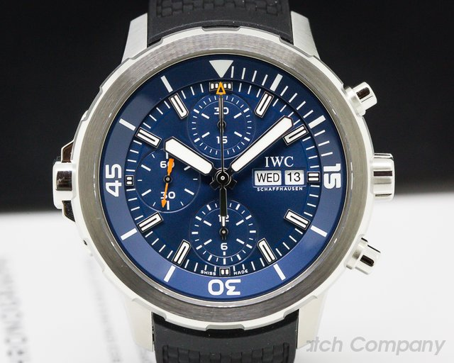 IWC IW376805 Aquatimer Chronograph SS / Rubber Blue Dial