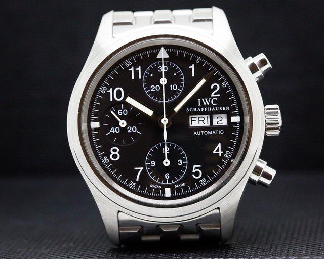 IWC IW370607 Pilot Chronograph Black Dial SS / Bracelet