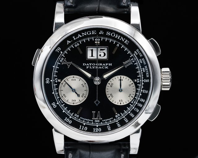 A. Lange and Sohne 403.035 Datograph Flyback Platinum / Deployant Buckle