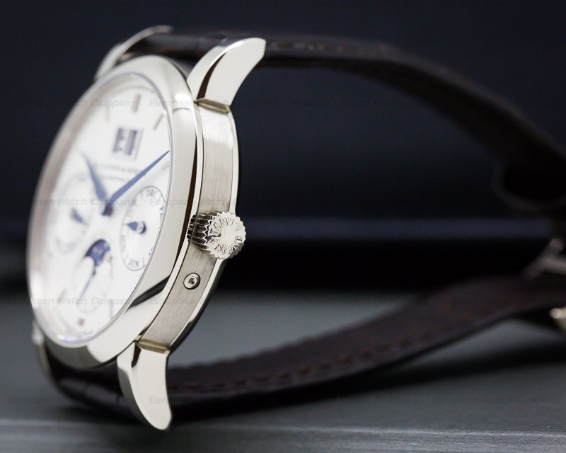 A. Lange and Sohne 330.026 Saxonia Annual Calendar 18K White Gold