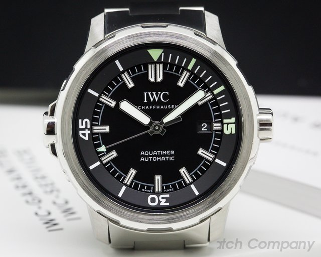IWC IW329002 Aquatimer Automatic Black Dial SS / SS