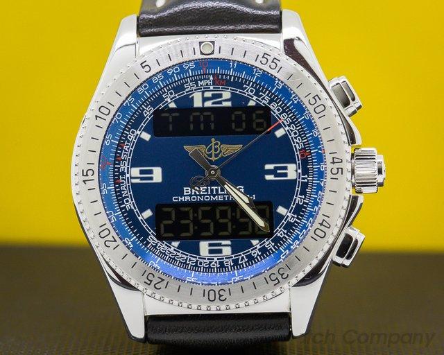 Breitling A78362 B1 Blue Dial Steel