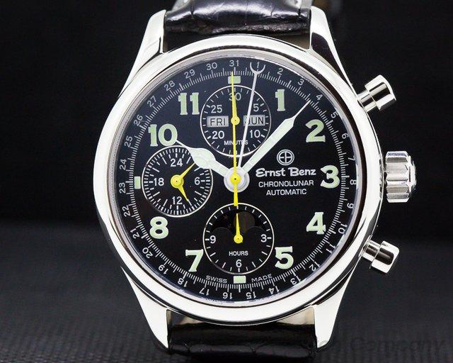 Ernst Benz 20300 Chronolunar 7751 Automatic SS 40mm