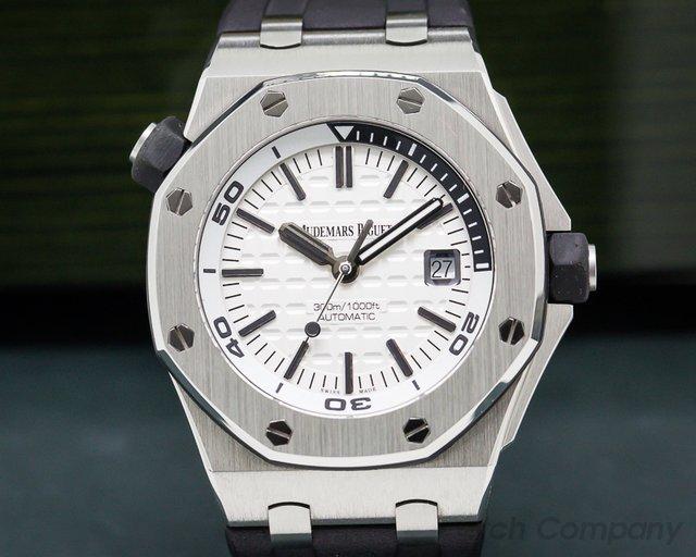 Audemars Piguet 15710ST.OO.A002CA.02 Royal Oak Offshore Diver White Dial