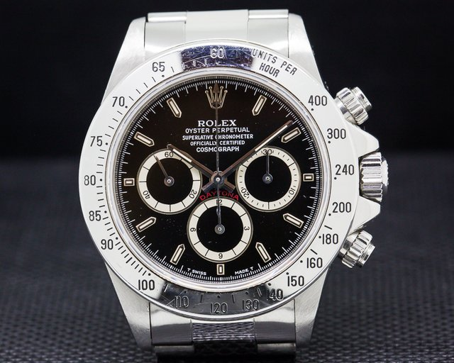 Rolex 16520 Daytona SS Black Dial Zenith Movement U Series