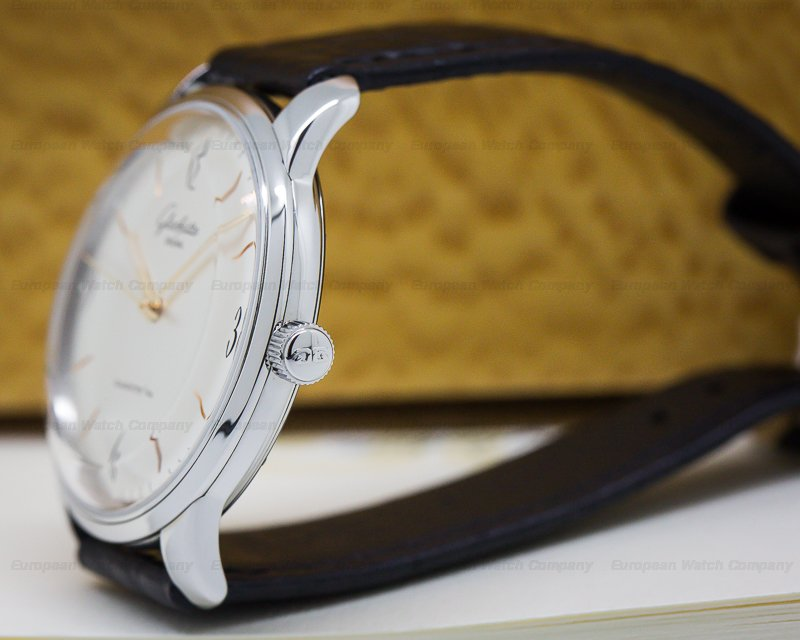 Glashutte Original 39-52-01-02-04 Senator Sixties SS Automatic Silver Dial
