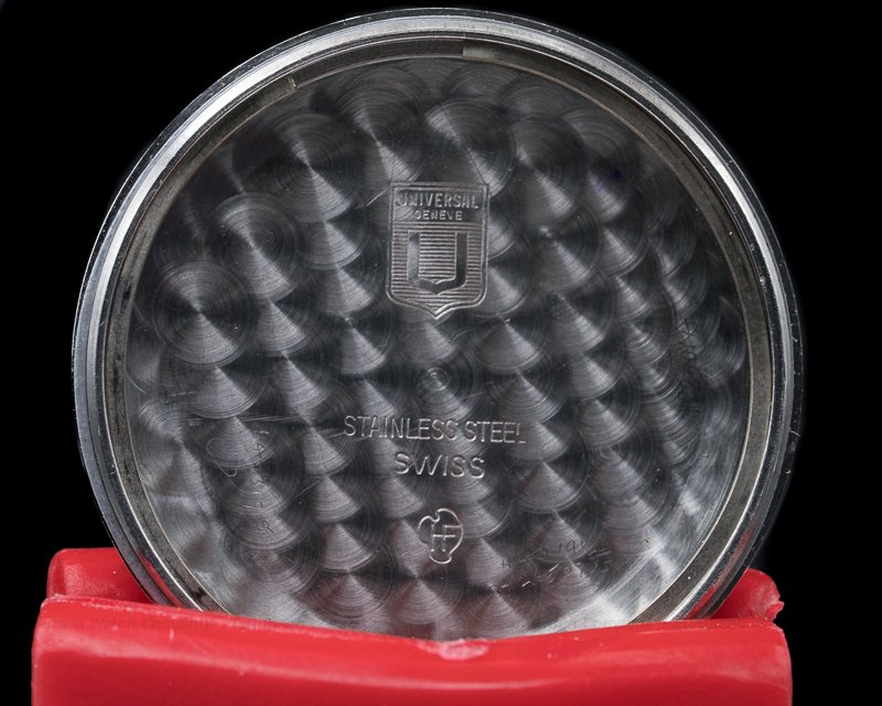 Universal Geneve 881101/03 Vintage Exotic Slate Dial Tri Compax SS / Bracelet