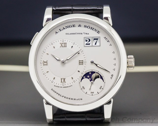 A. Lange and Sohne 109.025 Lange 1 Moon Platinum / Tang Buckle
