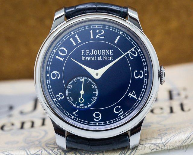 F. P. Journe  Chronometre Bleu Tantalum Blue Dial