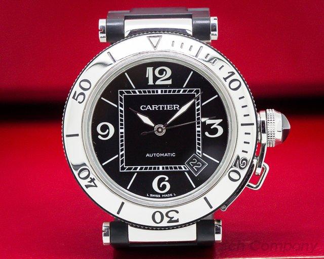 Cartier W31088U2 Pasha Seatimer Chronograph Rubber / SS