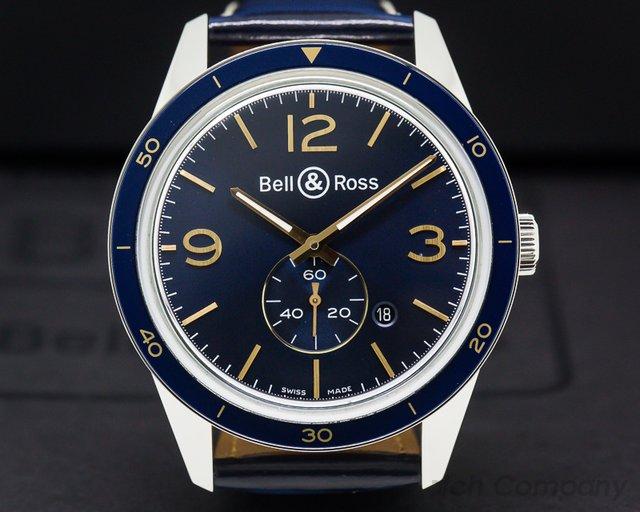 Bell & Ross BRV123-BLU-ST-SCR Heritage Blue Dial Central Seconds