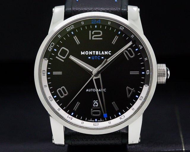 Montblanc 109334 Timewalker UTC SS Black Dial