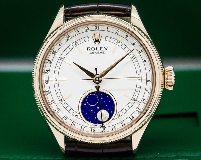 Rolex 50535 Rolex Cellini Moonphase 535 18K Rose Gold