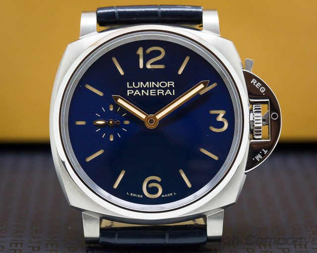 Panerai PAM00728 Luminor Due 3 Days Titanio Blue Dial