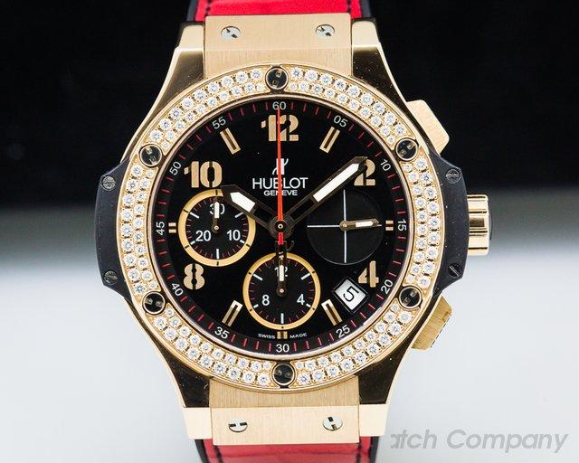Hublot 341.PX.130.RX.114 Big Bang Rose Gold Diamonds / Black Dial