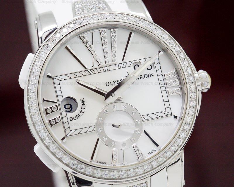 Ulysse Nardin 243-10B-3C/391 Executive Dual Time SS MOP Dial Diamonds