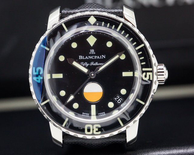Blancpain 5008-1130-B52A Tribute to Fifty Fathoms MilSpec SS LIMITED UNWORN