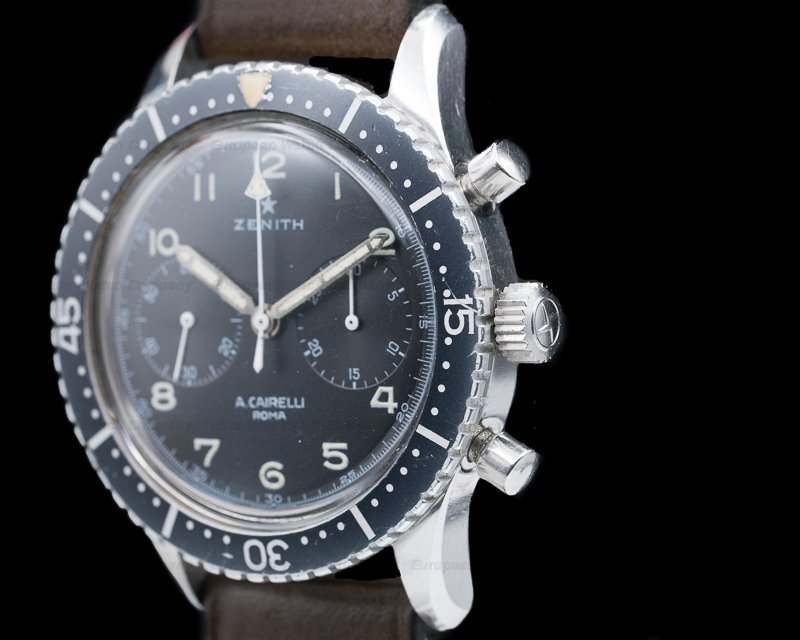 Zenith CP-2 Vintage A. Cairelli Italian Air Force (A.M.I) Chronograph SS